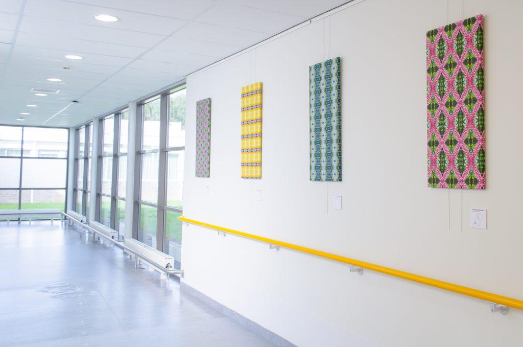 Expositie groenmblauw Amstelland Ziekenhuis