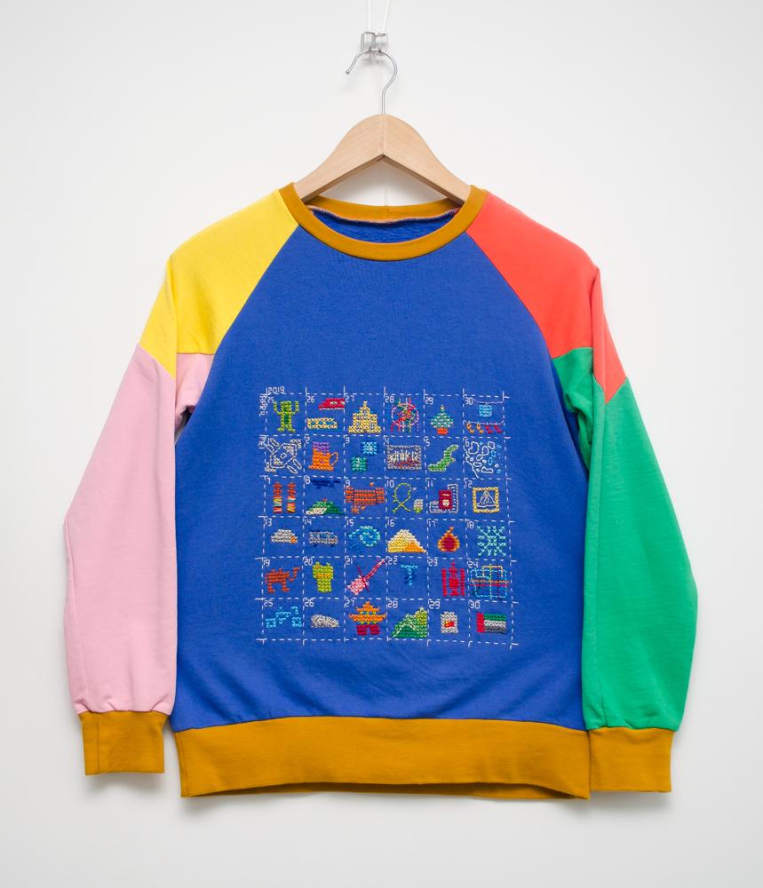 De hele trui die meegeweest is op de reis