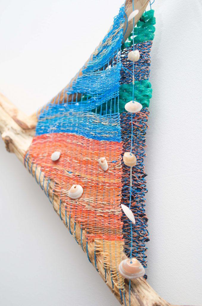 Detail van de plastic wadden.
