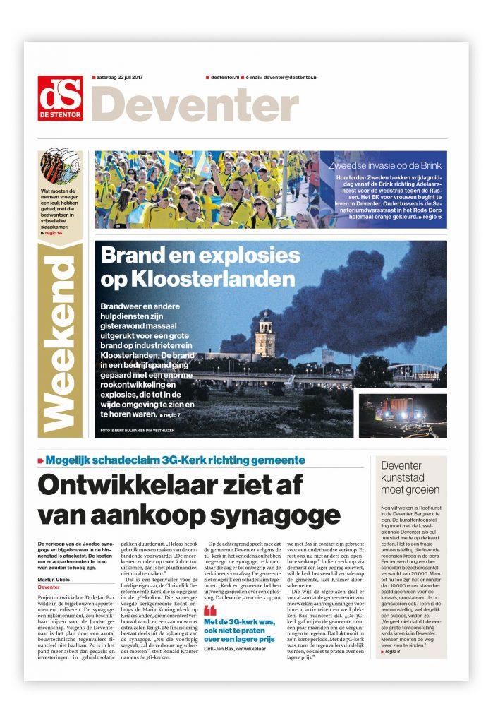 De Stentor, voorpagina Editie Deventer.