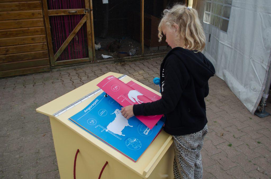 De infographics zijn te zien bij kinderboerderij Horsterpark