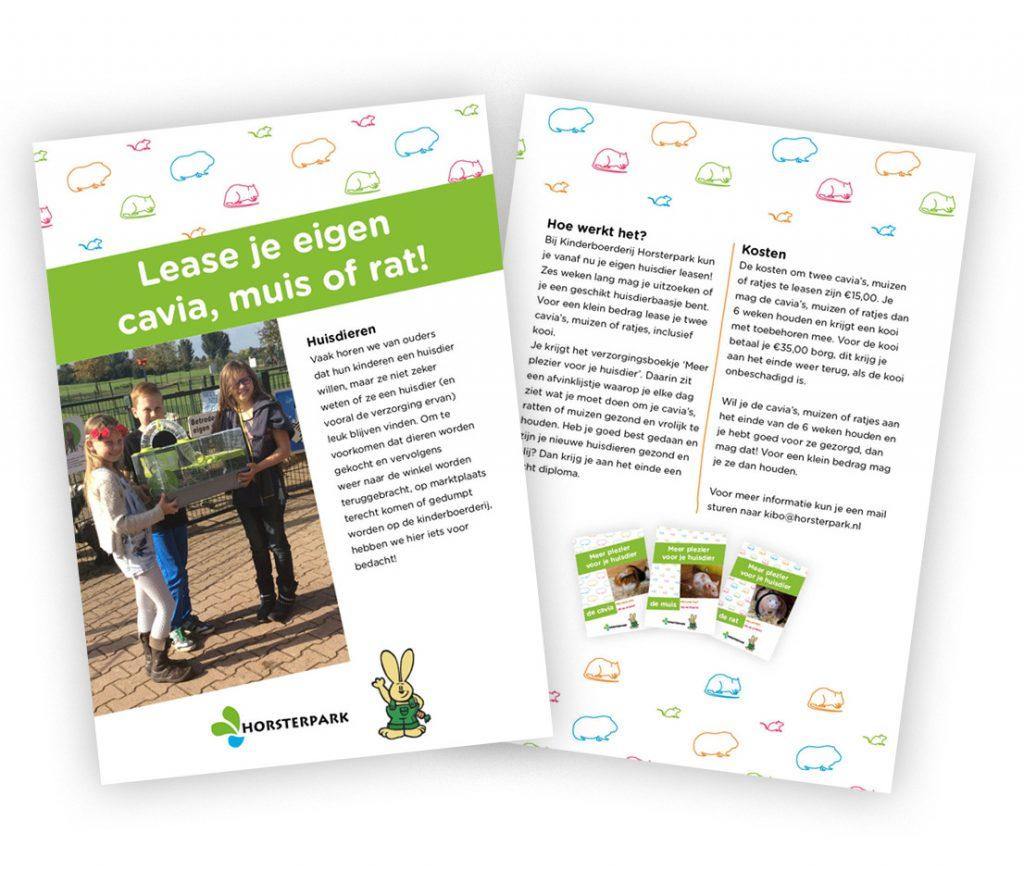 Kinderboerderij Horsterpark Huisdieruitleen Flyer