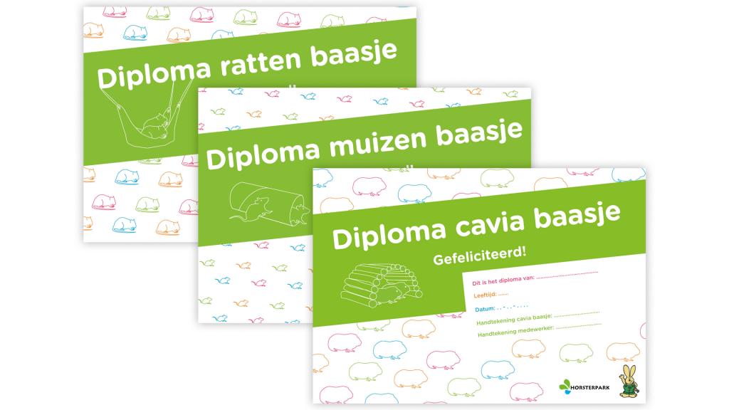 Diploma huisdieruitleen Horsterpark
