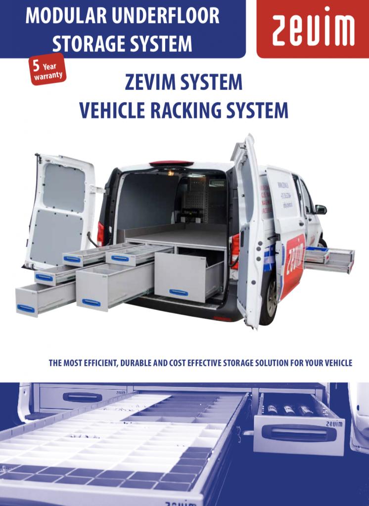 Zevim bedrijfswageninrichtingen, bodemlade systeem folder.