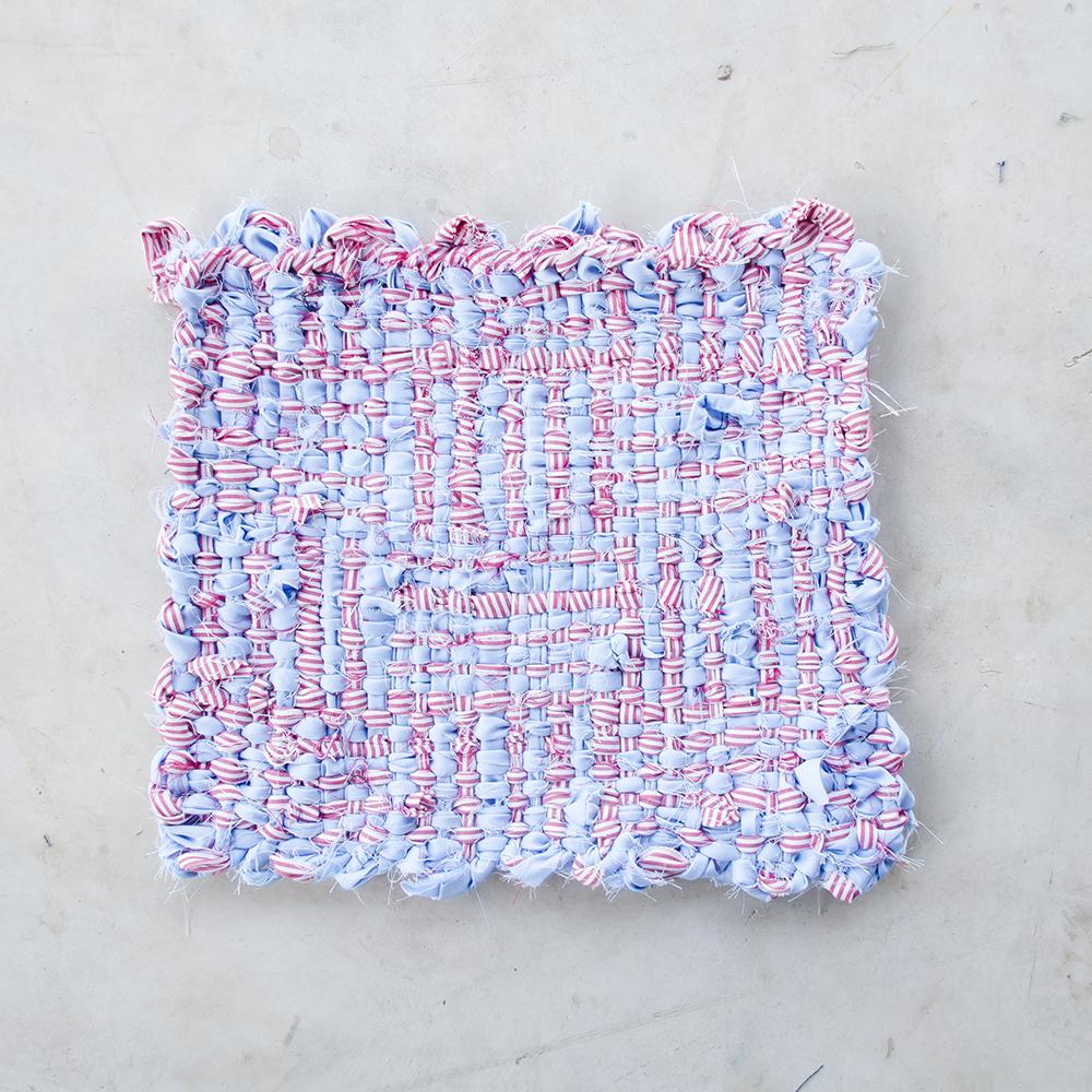upcycle textiel, overhemd hergebruikt, schijnpatroon