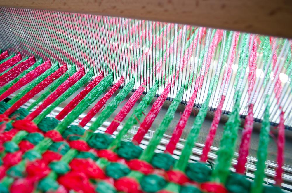 Schijnpatroon plastic netjes wandkleden