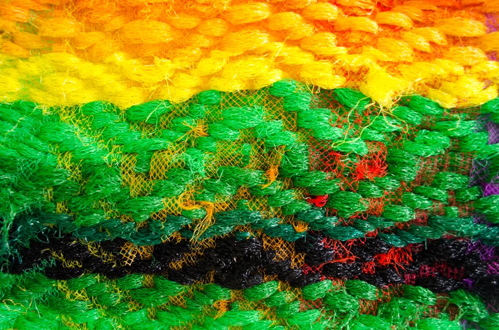 detail van plastic netjes